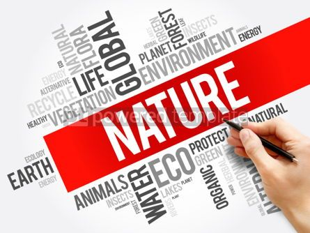 Business: Nature word cloud background #06165