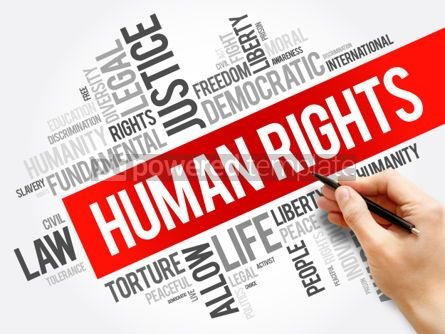 Business: Human rights word cloud collage #06168