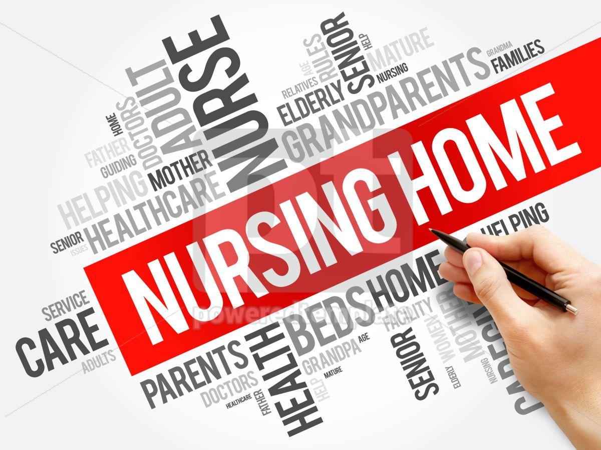 Nursing Home word cloud collage, 06175, Business — PoweredTemplate.com