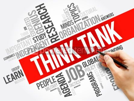 Business: Think Tank word cloud collage #06179