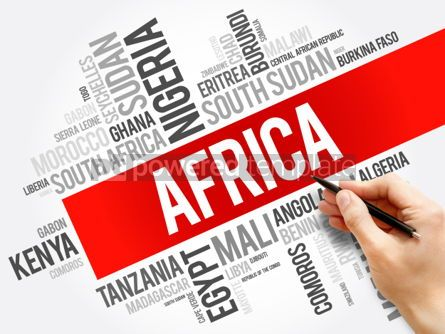 Business: List of African countries word cloud collage #06182