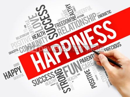 Business: HAPPINESS word cloud collage #06193