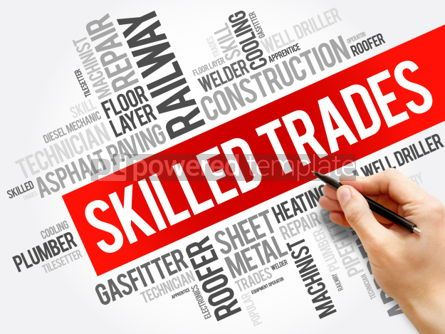 Business: Skilled Trades word cloud collage #06194