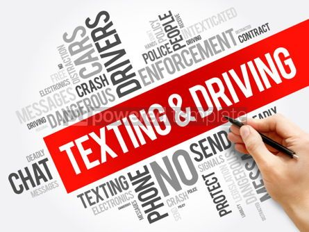 Business: Texting and Driving word cloud collage #06200