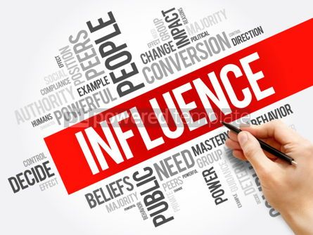 Business: Influence word cloud collage #06218