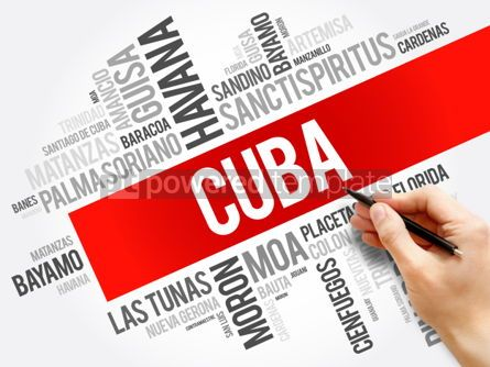 Business: List of cities and towns in Cuba word cloud #06225
