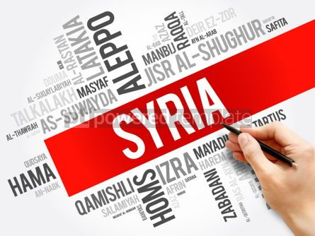 Business: List of cities and towns in Syria word cloud #06227