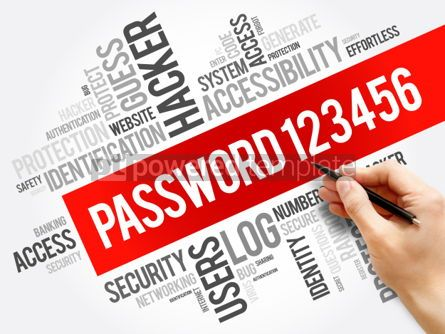 Business: Easy Password 123456 word cloud #06228