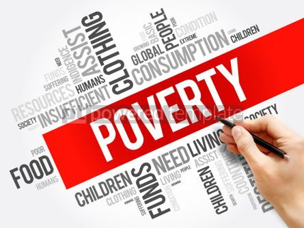 Business: Poverty word cloud collage #06238