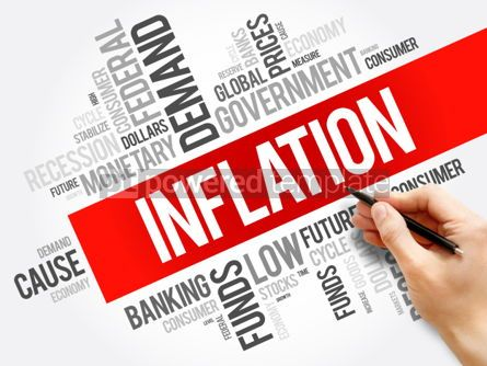 Business: Inflation word cloud collage #06239