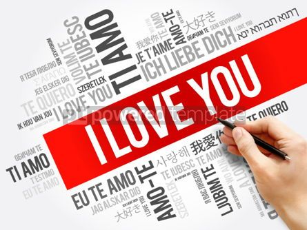 "Business: love words ""I love you"" word cloud #06254"