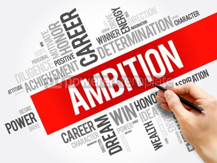 Business: Ambition word cloud collage #06255