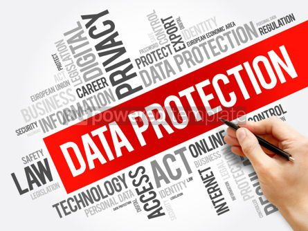Business: Data Protection word cloud collage #06265