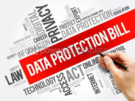 Business: Data Protection Bill word cloud collage #06266