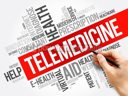 Business: Telemedicine word cloud collage #06271