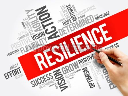 Business: Resilience word cloud collage #06279