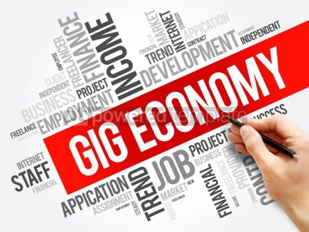 Business: Gig Economy word cloud collage #06280