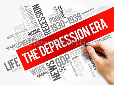 Business: The Depression Era word cloud collage #06286