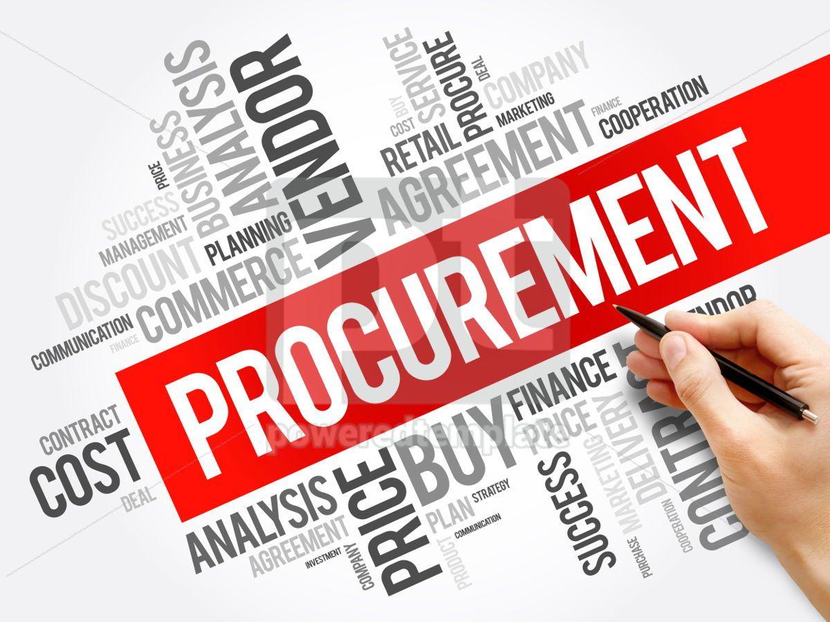 Procurement word cloud collage, 06288, Business — PoweredTemplate.com