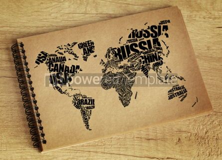 Business: World Map in Typography word cloud concept #06296