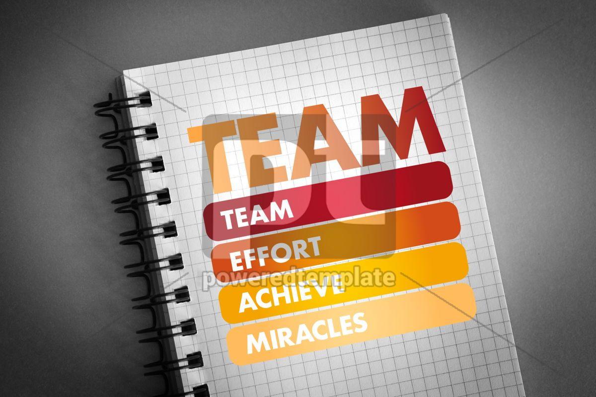 TEAM - Team Effort Achieve Miracles acronym, 06302, Business — PoweredTemplate.com