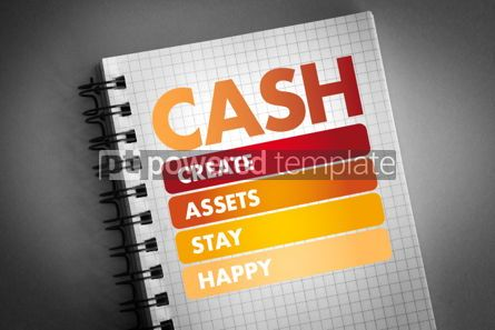 Business: CASH - Create Assets Stay Happy acronym #06303
