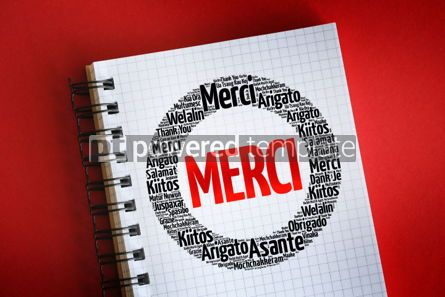 Business: Merci (Thank You in French) word cloud #06307