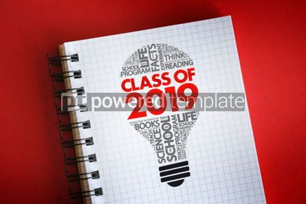 Business: CLASS OF 2019 light bulb word cloud collage #06310