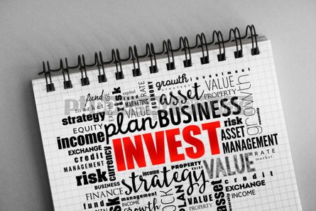 Business: Invest word cloud collage #06317