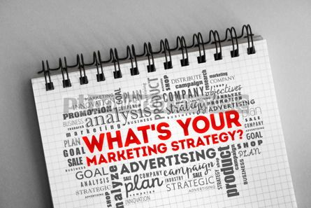 Business: What's Your Marketing Strategy word cloud #06323
