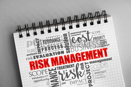 Business: Risk Management word cloud collage #06326