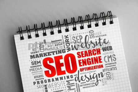 Business: SEO (search engine optimization) word cloud #06331