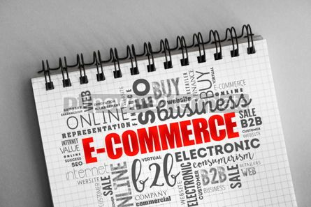 Business: E-COMMERCE word cloud background #06332