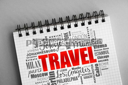 Business: TRAVEL word cloud business concept background #06337
