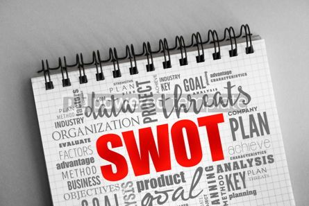 Business: SWOT analysis word cloud business background #06342