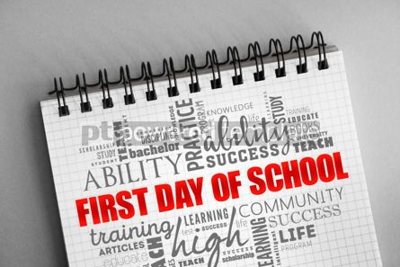 Business: First day of school word cloud collage #06348