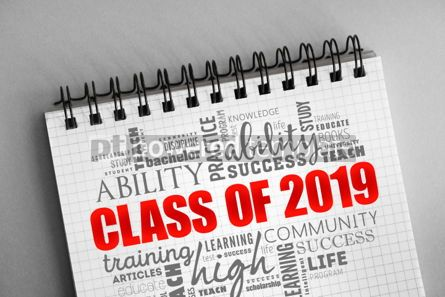 Business: CLASS OF 2019 word cloud collage #06349