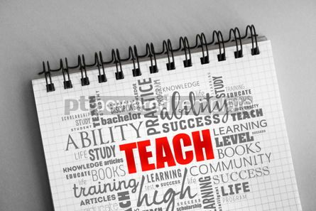 Business: TEACH word cloud collage #06351