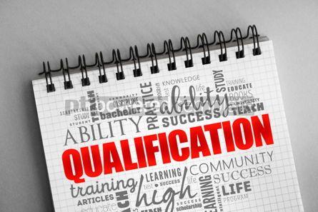 Business: Qualification word cloud education concept #06354