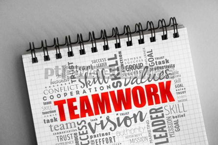 Business: Teamwork word cloud collage #06361