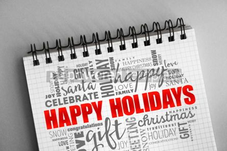 Holidays: Happy Holidays word cloud collage #06365