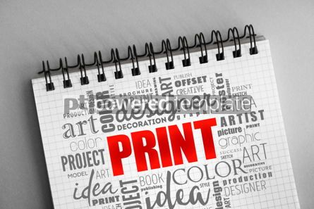 Business: PRINT word cloud creative concept #06368