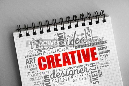 Business: CREATIVE word cloud creative concept #06371