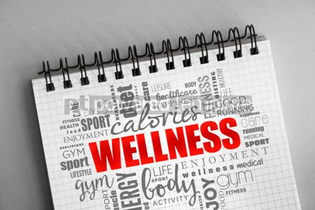 Health: Wellness word cloud collage #06381