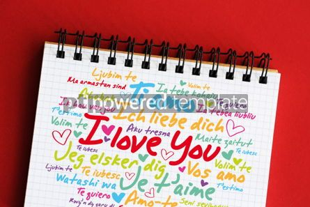 "Business: love words ""I love you"" in different languages #06382"