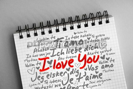 "Business: love words ""I love you"" in different languages #06383"