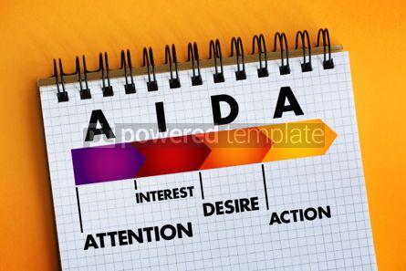 Business: AIDA (marketing) acronym business concept #06386