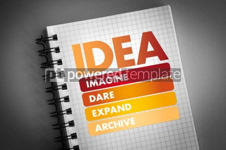 Business: IDEA- Imagine Dare Expand Achieve acronym #06397