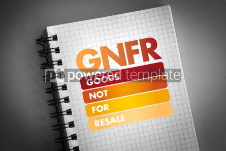 Business: GNFR - Goods Not For Resale acronym #06406