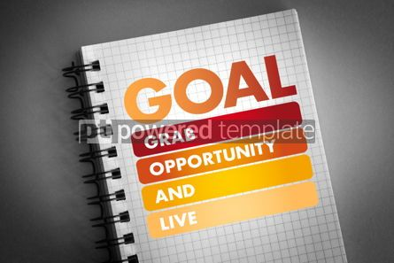 Business: GOAL - Grab Opportunity And Live acronym #06411